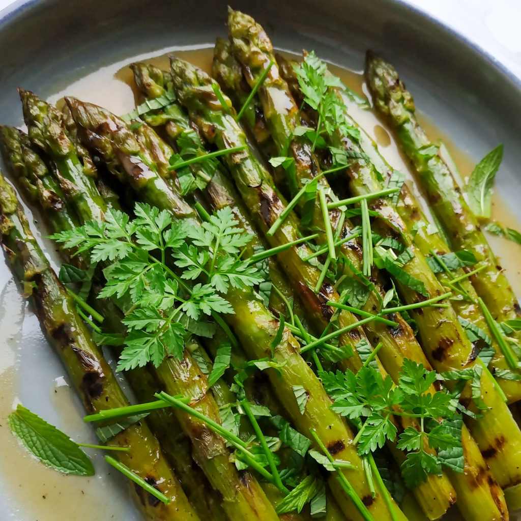 Grilled Asparagus and Herbs