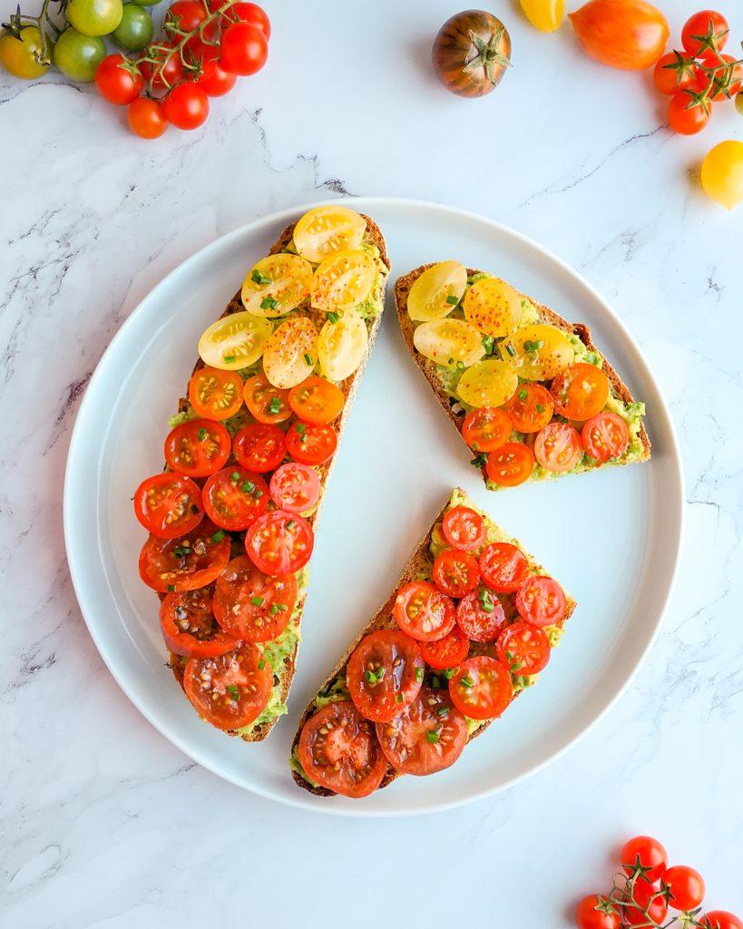 tomato avocado toast