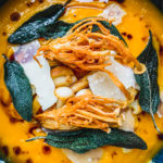 squash soup with mushrooms