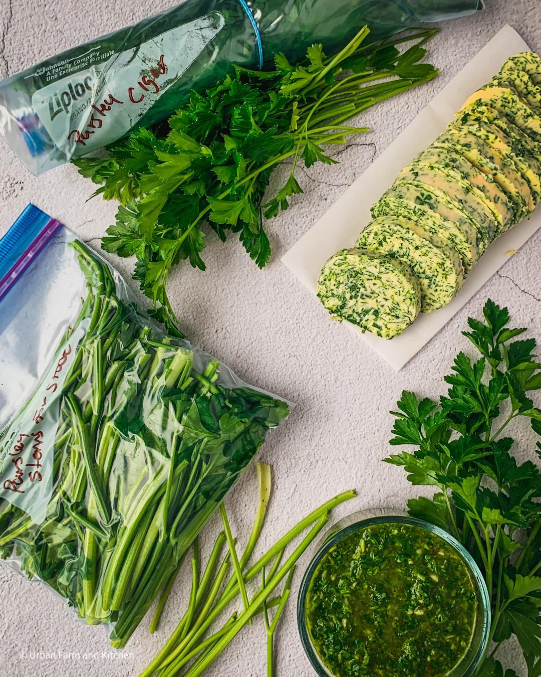 preserving parsley