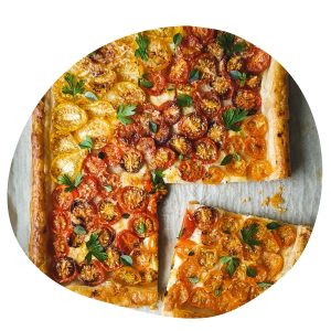 tomato tart with cheese